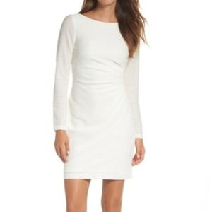 VINCE CAMUTO- white sequin knit dress